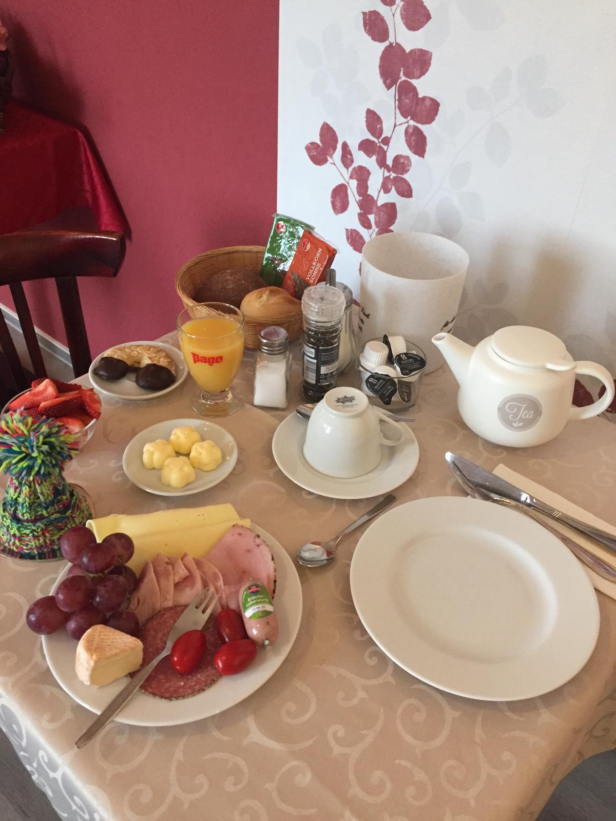 kontinentale Frühstücksauswahl